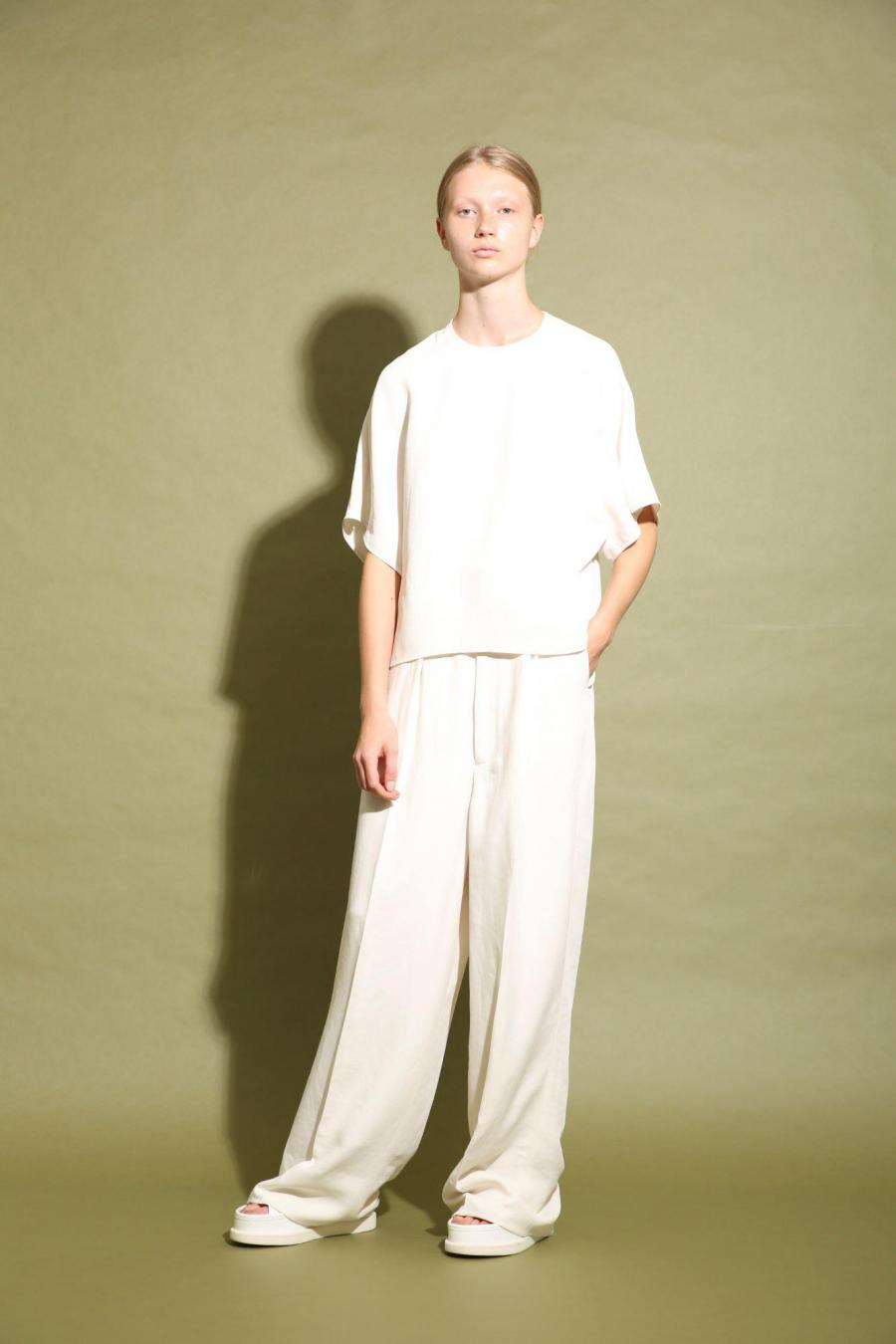 TRIACE LINEN TWILL TOP