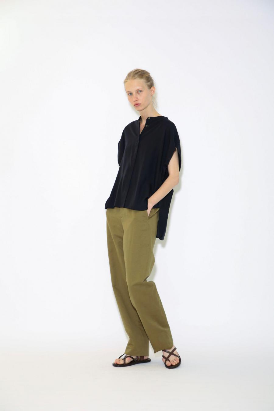 COTTON LINEN HIGH COUNT PANTS