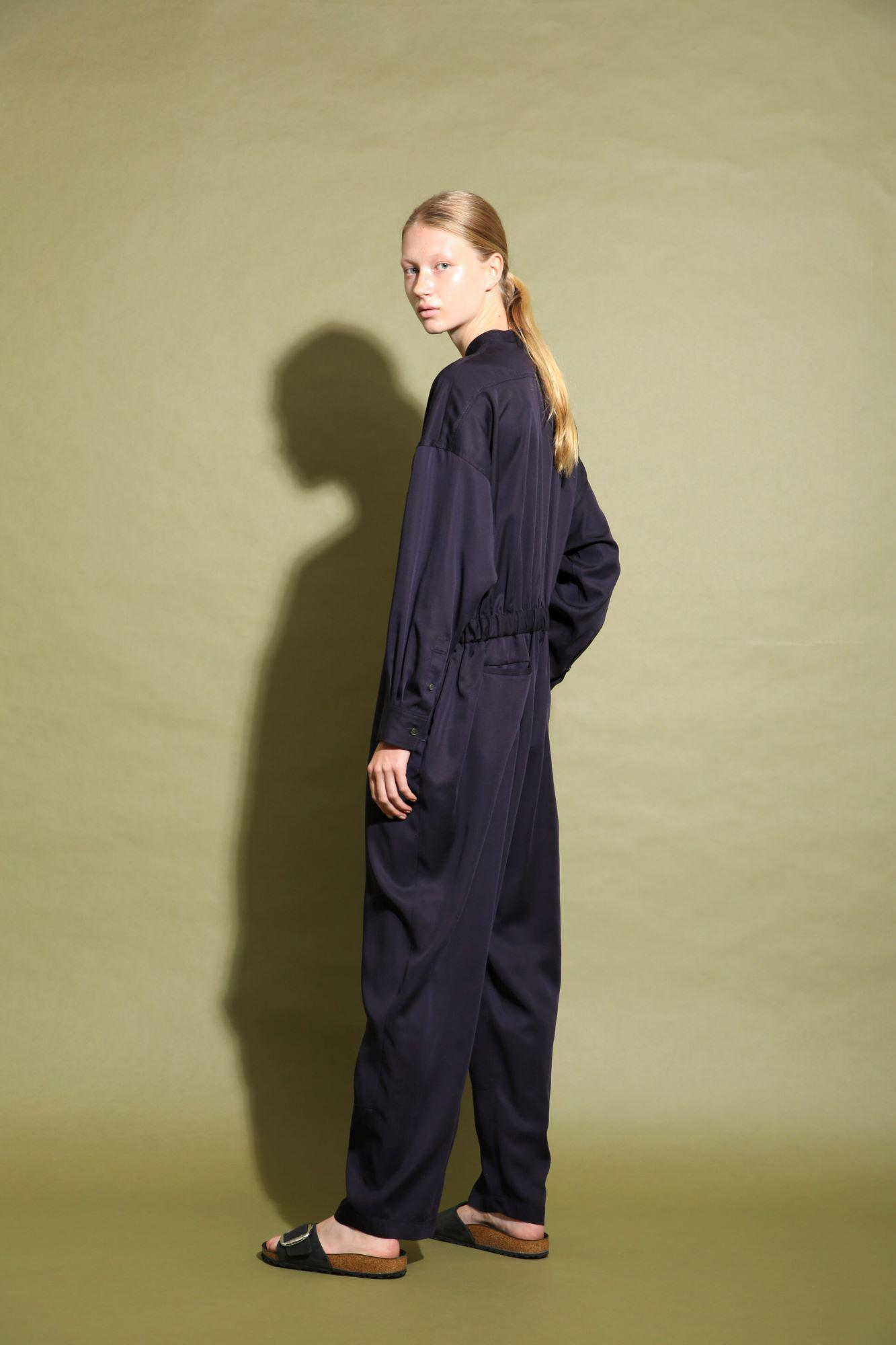 CELL TWILL JUMPSUIT