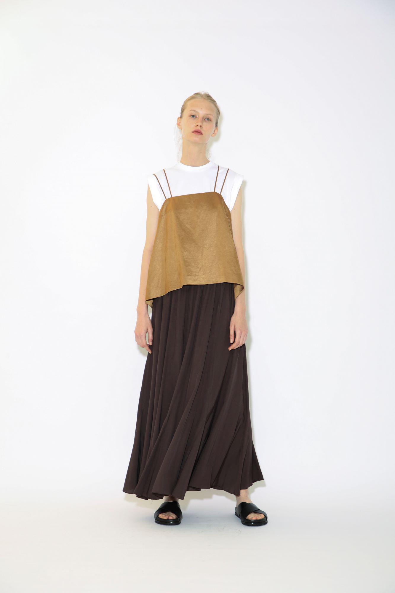 TRIACE LINEN TRICOTINE TOP