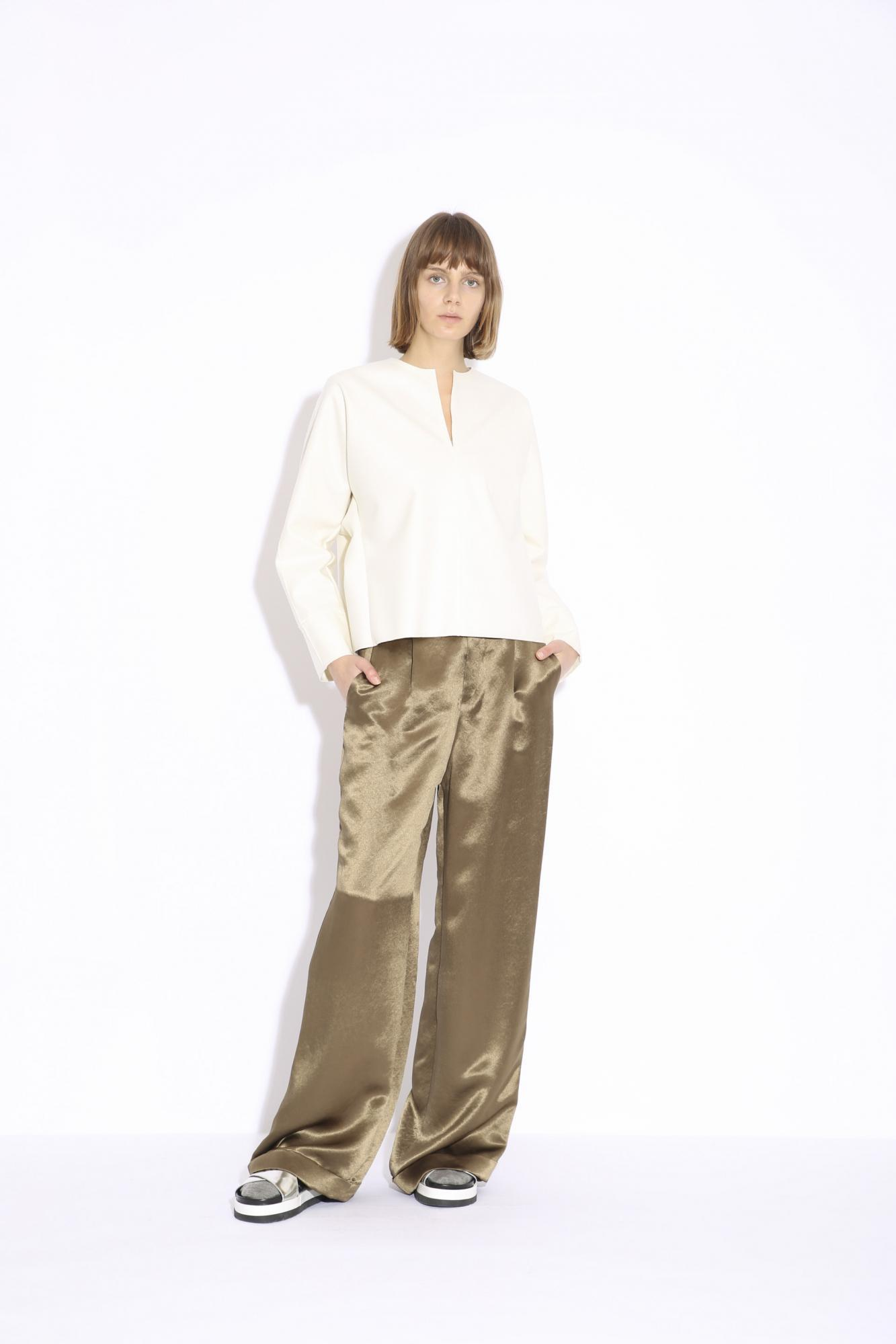 ACETATE SATIN PANTS