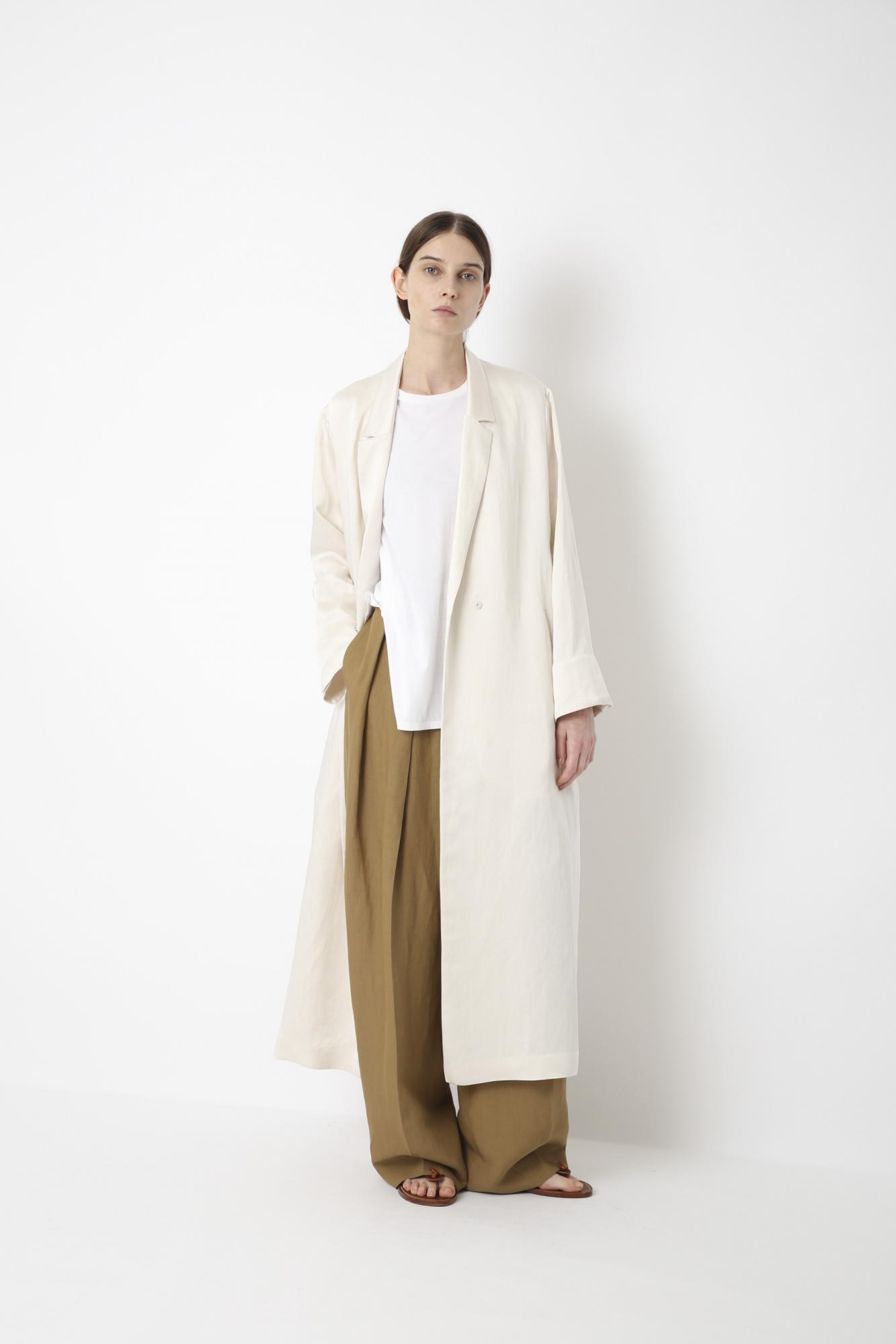 VISCOSE LINEN SATIN COAT