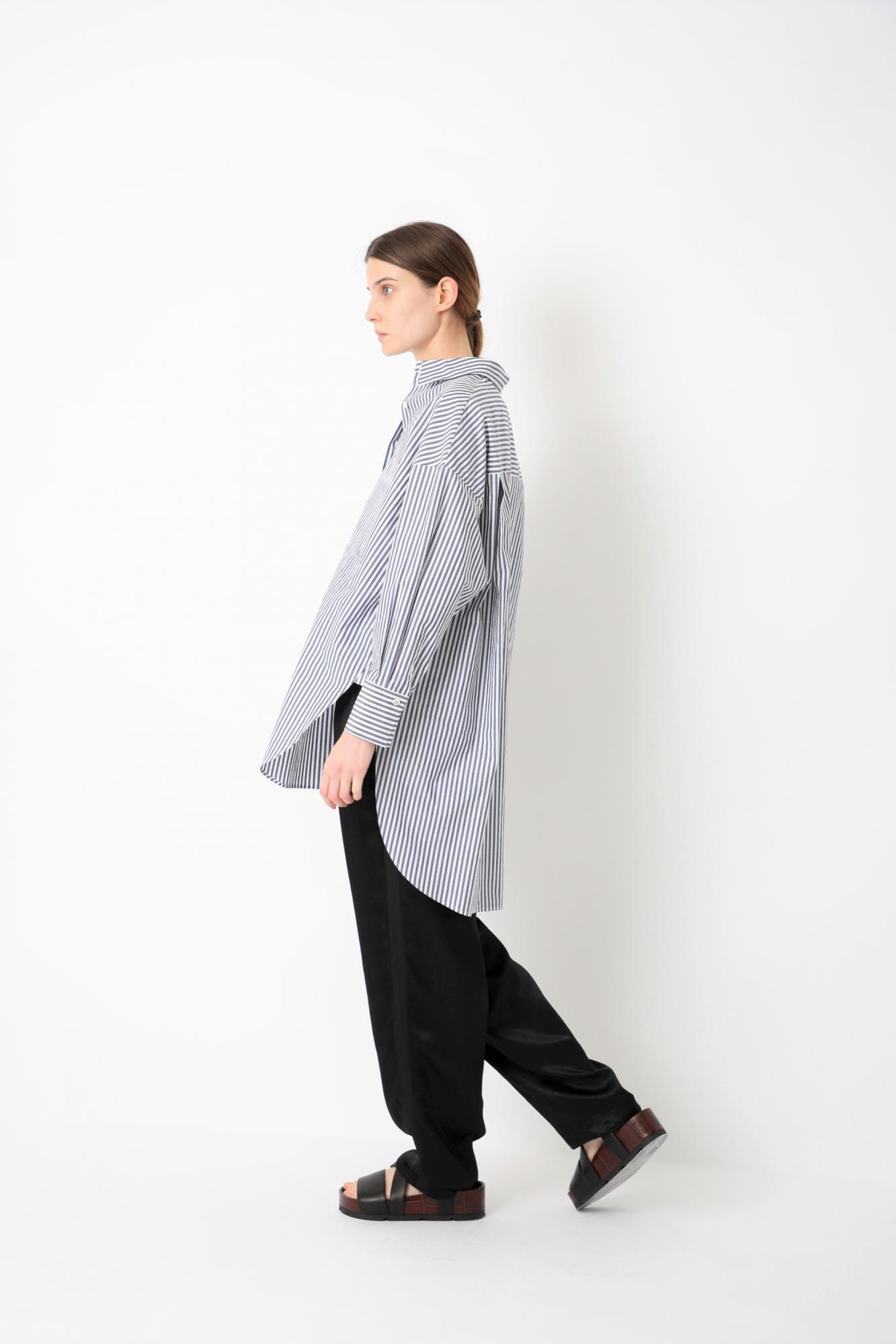 HIGH COUNT COTTON STRIPE TOP