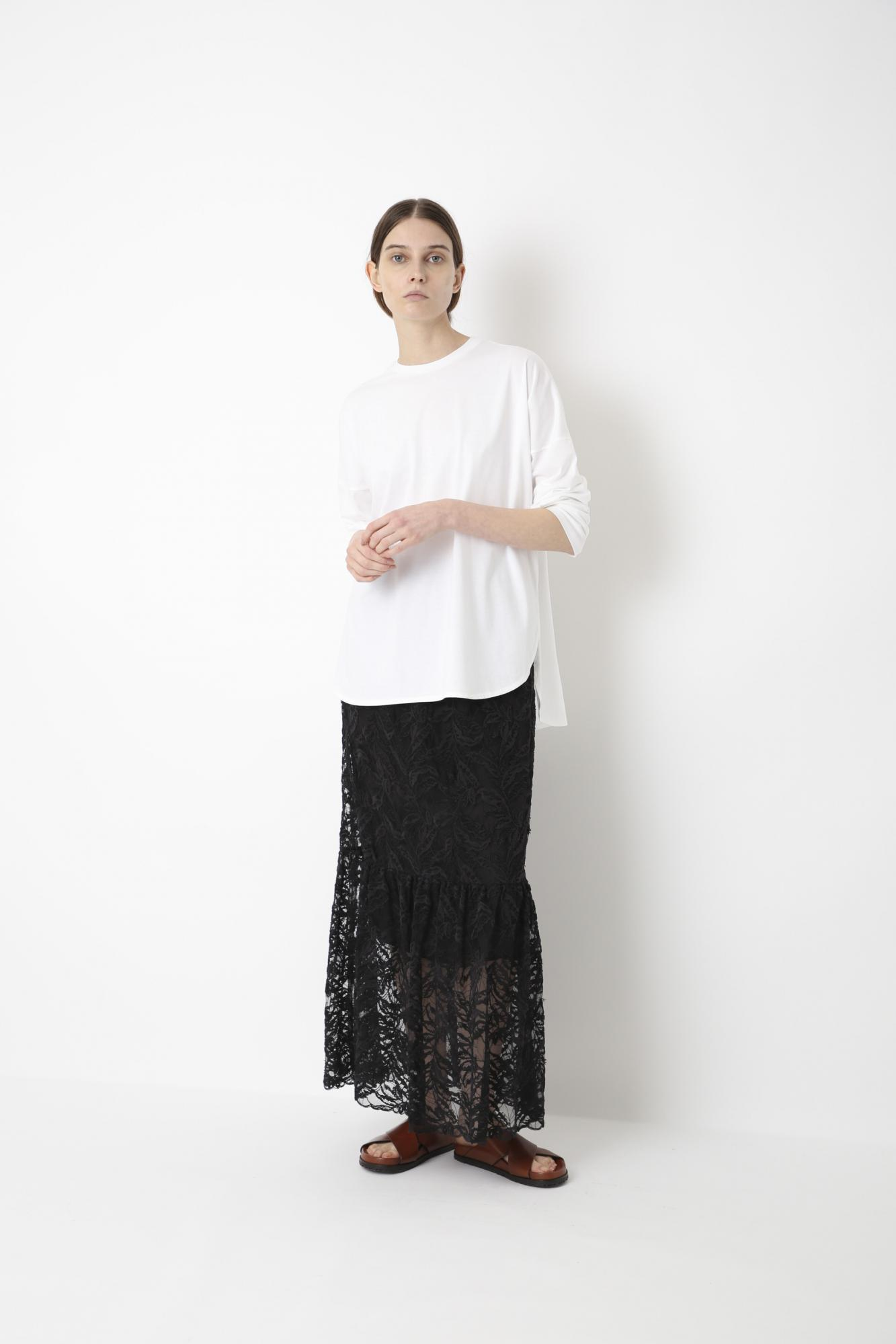 TULLE EMBROIDERY LACE SKIRT