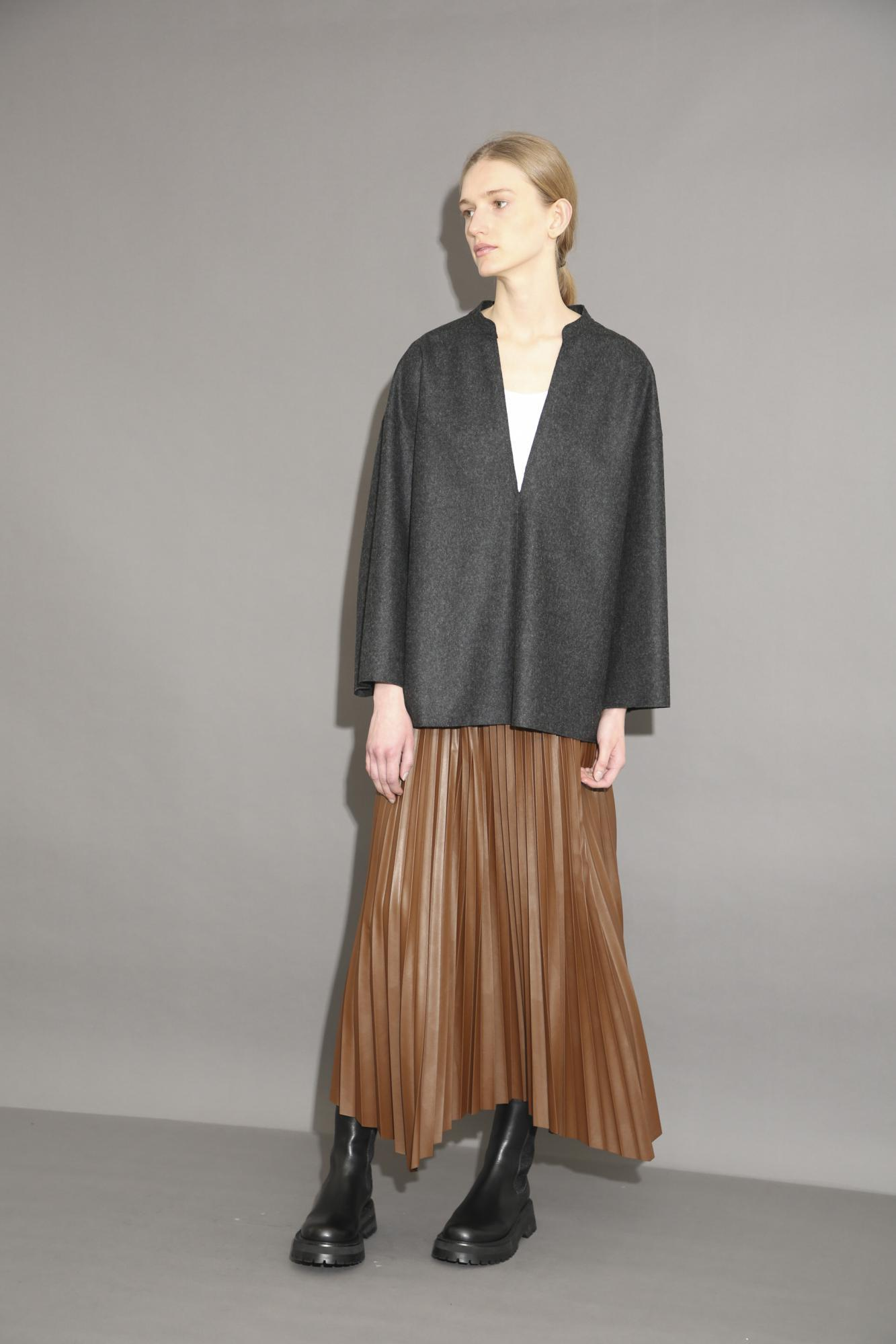 SYTHETIC LEATHER SKIRT